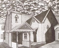 現在の教会堂の姿を元にした絵です。